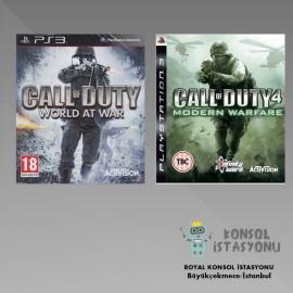 Call Of Duty 4 Modern Warfare - World At War Ps3 Oyunları 2li Pak