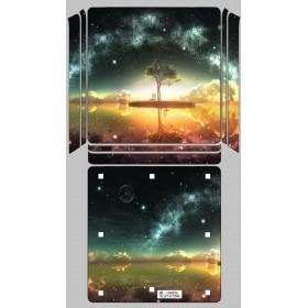 Ps4 Slim Sticker Doğa - Playstation 4 Slim Vinil Kaplama
