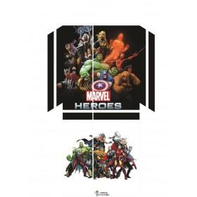 Ps4 Standart Kasa Sticker Marvel - Playstation 4 Vinil Kaplama