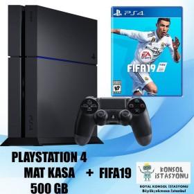 Sony Playstation 4 Mat Kasa 500 Gb + Fifa19 - Ücretsiz Kargo