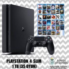 Sony Playstation 4 Slim - 1 Tb - 35 Oyun - İkinci El Çok Temiz