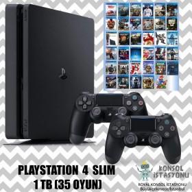 Sony Playstation 4 Slim - 1 Tb 2 Kol  35 Oyun İkinci El Çok Temiz