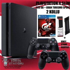 Sony Playstation 4 Ps4 Slim 500 Gb + 2 Kol + Gran Turismo Sport