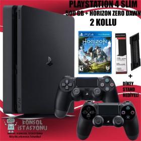 Sony Playstation 4 Ps4 Slim 500 Gb + 2 Kol + Horizon Zero Dawn