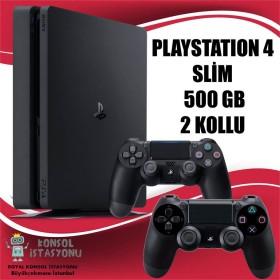 Sony Playstation 4 Ps4 Slim 500 Gb + 2 Oyun Kolu