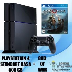 Sony Playstation 4 Standart Kasa 500 Gb + God Of War - Ücretsiz Kargo