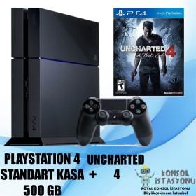 Sony Playstation 4 Standart Kasa 500 Gb + Uncharted 4